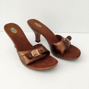 Dr Scholl's Slip-on Heels Bronze Size 9